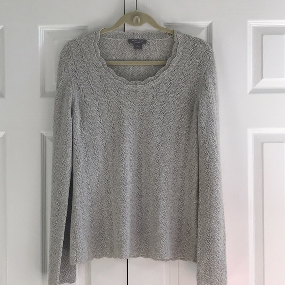 Ann Taylor silver cashmere sweater